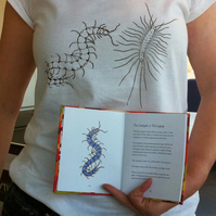 Centipedes screenprinted tshirt