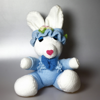 Large Cute Hand Knit Bunny