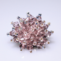 Beautiful Pale Pink Crystal Bead Brooch