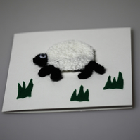 Cute Sheep Amigurumi Greetings Card - UK Free Post