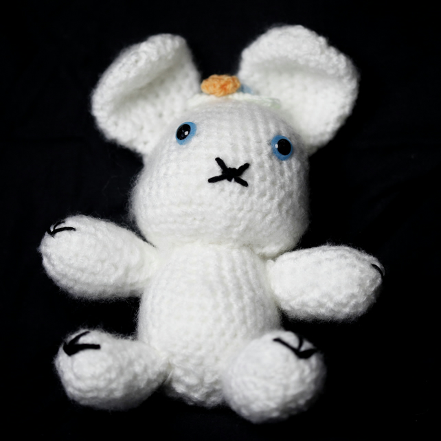 Lovely White Amigurumi Rabbit