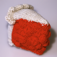Knitted Slice of Cherry Pie - UK Free Post
