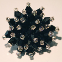 Beautiful black Crystal Bead Brooch