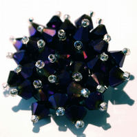 Beautiful Purple Crystal Bead Brooch