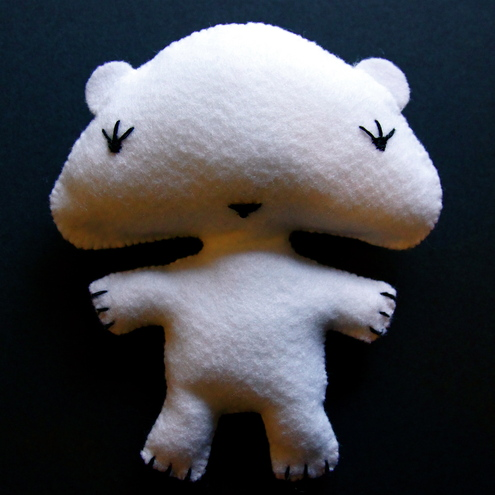 Cute felt polar bear