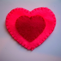 Loving heart brooch