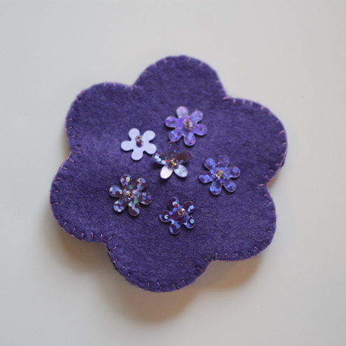 Felt Flower Brooch - CUSTOM LISTING