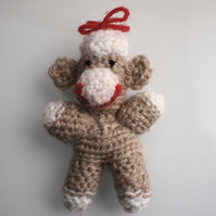 Cheeky little amigurumi monkey