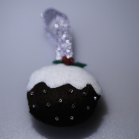 Cute Christmas Pudding Decoration - UK Free Post