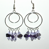 Amethyst Chandelier Earrings - UK Free Post