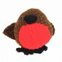 Cute Amigurumi Robin Decoration - UK Free Post