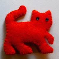 Marmalade Ginger Cat Felt Brooch