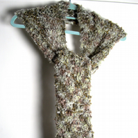 Hand Knitted Scarf with Mohair - UK Free Post