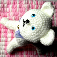 Cute Amigurumi White Cat