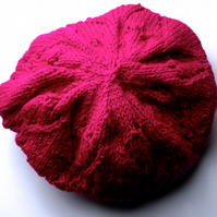 Pretty Dark Pink Slouch Beret - UK Free Post