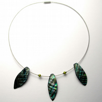 Turquoise Shell Leaf Necklace