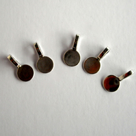 5 x Tibetan Silver Round Glue on Bails for Pendant and Cabochon Jewellery