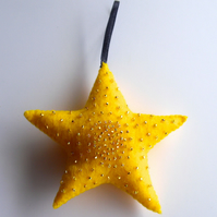 Cute Hand Stitched Star Decoration