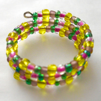 Multi-Coloured Memory Wire Ring
