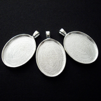 3 x Cameo Settings - Silver Plate