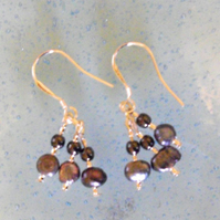 Freshwater Pearl Sterling Silver Earrings - UK Free Post
