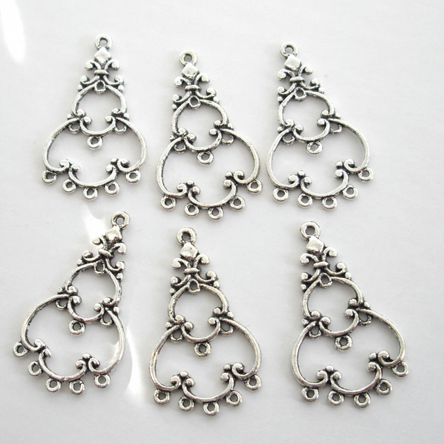 6 x Chandelier Earring Components (3 pairs)