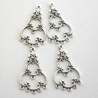 4 x Chandelier Earring Components (2 pairs)