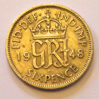 Lucky Sixpence Dated 1948