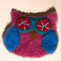 Cute Felt Owl Brooch