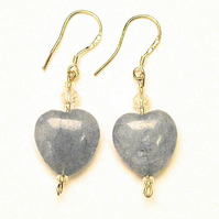 Lovely Brazillian Aquamarine Heart Earrings