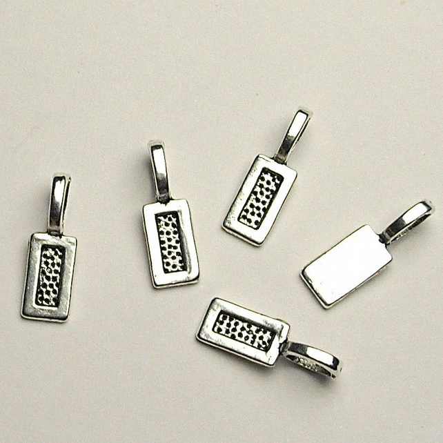 5 x Tibetan Silver Glue on Tag Bails for Pendant and Cabochon Jewellery