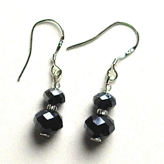 Metallic Crystal Earrings
