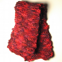 Hand Knitted Wool Rich Scarf