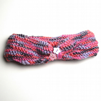 Hand Knitted Wool Rich Headband