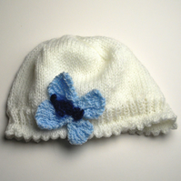 Childs Hand Knitted Butterfly Hat - UK Free Post