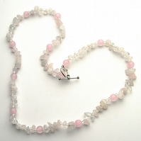Rose Quartz Necklace - UK Free Post