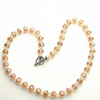 Pink Champagne Necklace - UK Free Post