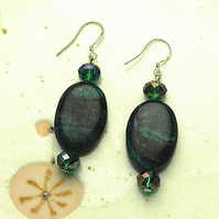 Green Turquoise Bead Earrings