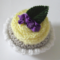 Cute Knitted Yellow Cup Cake