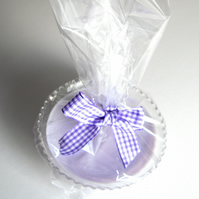Sweetie Shop Parma Violet Vintage Glass Candle - UK Free Post