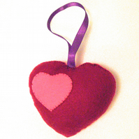Felt Heart Hanging Decoration