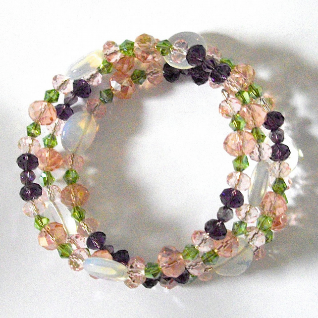 Flower Garden Wrap Bracelet - UK Free Post