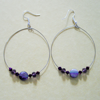 Large Teardrop Hoop Earrings - UK Free Post