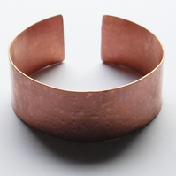 Hand Crafted Hammer Finished Copper Cuff Bracelet