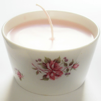 Vintage China Rose Candle