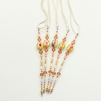 Set of 5 x Hanging Icicle Decorations