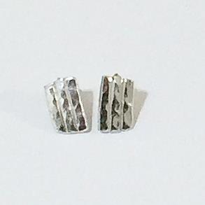 Hand Made Sterling Silver Stud Earrings