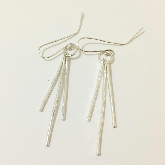 Hand Made Sterling Silver Dangle Earrings