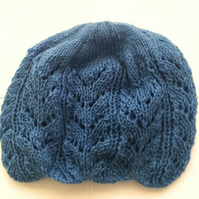 Blue Fancy Knitted Hat