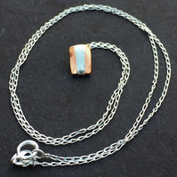 Copper and Sterling Silver Necklace - UK Free Post